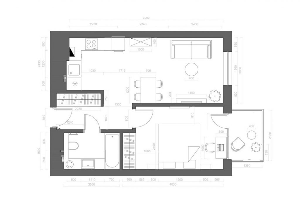 Typical House Floor Plan
