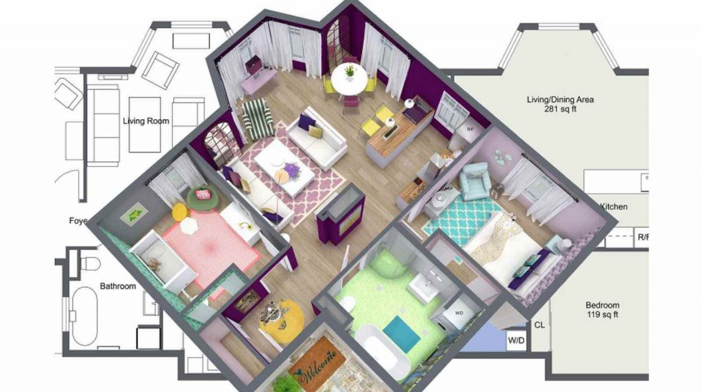 Process of Turning Floor Plan to Interior Design