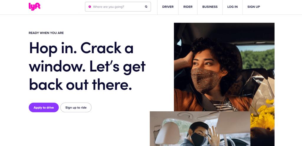 Lyft home page